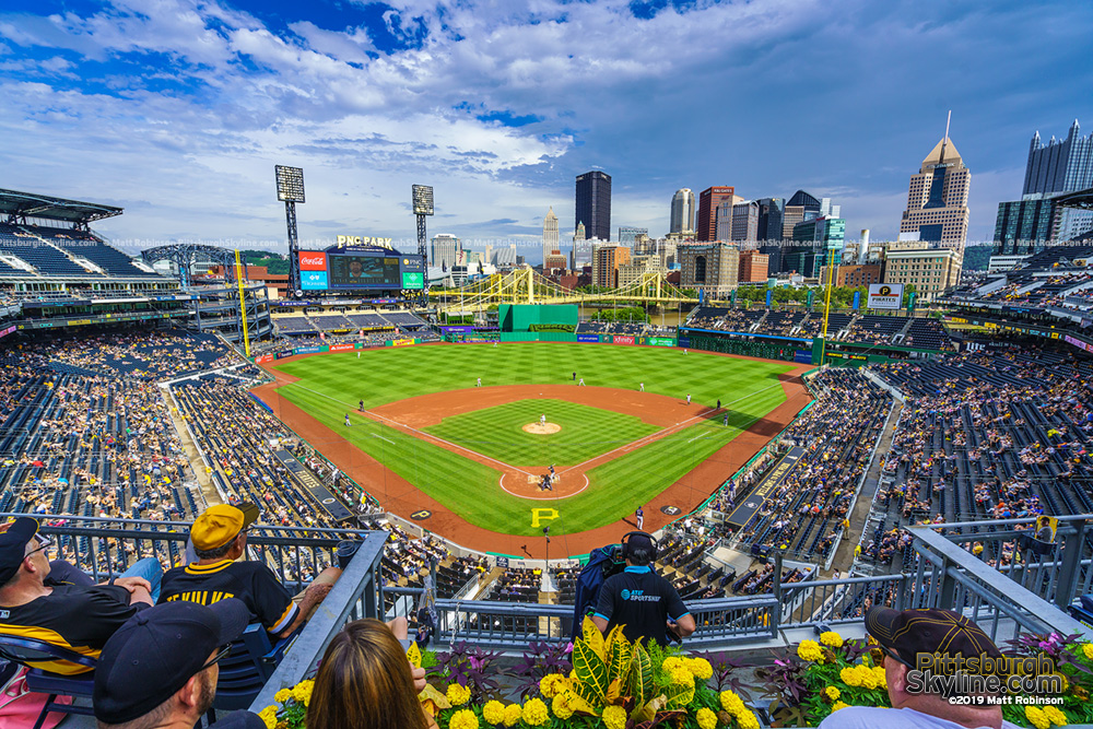 PNC Park and the Pittsburgh Skyline 2019