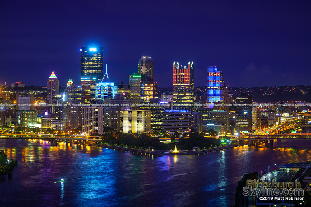 Pittsburgh Skyline from West End Overlook 2019