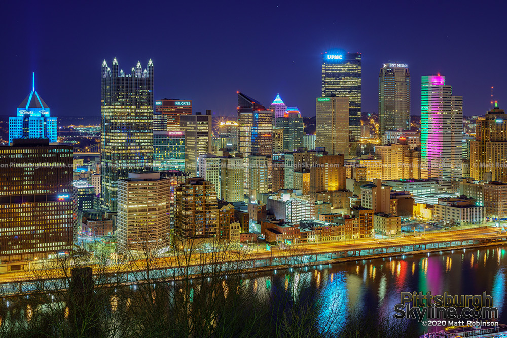 Pittsburgh at night 2020